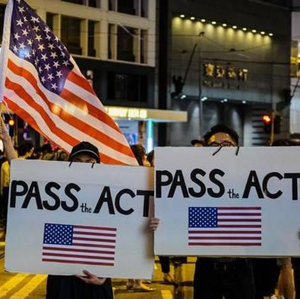 Senat AS Dukung Demokrasi Hong Kong, China Ancam Tindakan Balasan