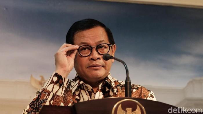 Foto: Sekretaris Kabinet Pramono Anung (Andhika Prasetia/detikcom)