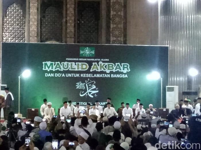 Wakil Presiden Maruf Amin menghadiri Maulid Nabi Muhammad SAW di Masjid Istiqlal. (Fida/detikcom)