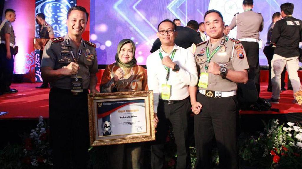 Lagi, Polres Madiun Raih Penghargaan Sangat Baik Dalam Layanan Publik