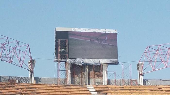 Papan skor digital yang telah terpasang (Foto: Istimewa)