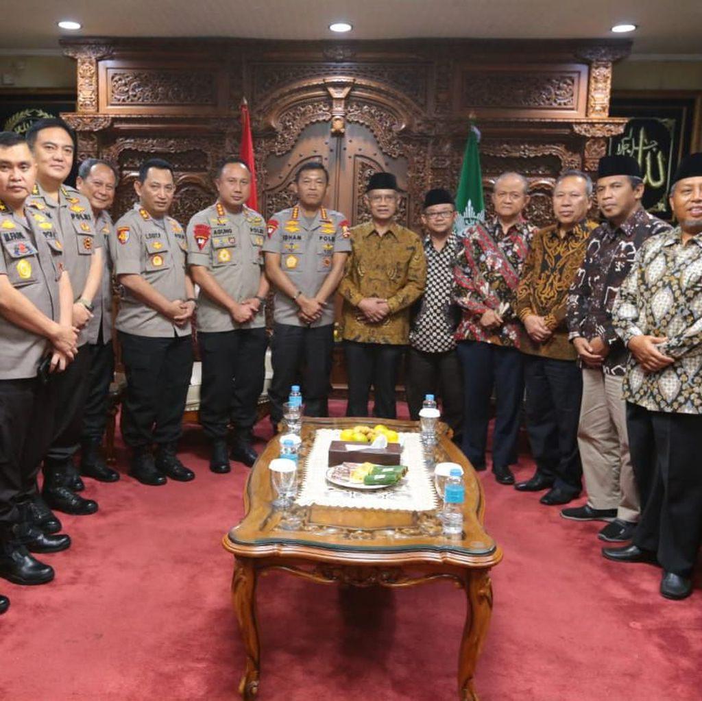 Kapolri Temui Ketum PP Muhammadiyah, Bahas Strategi Lawan Terorisme