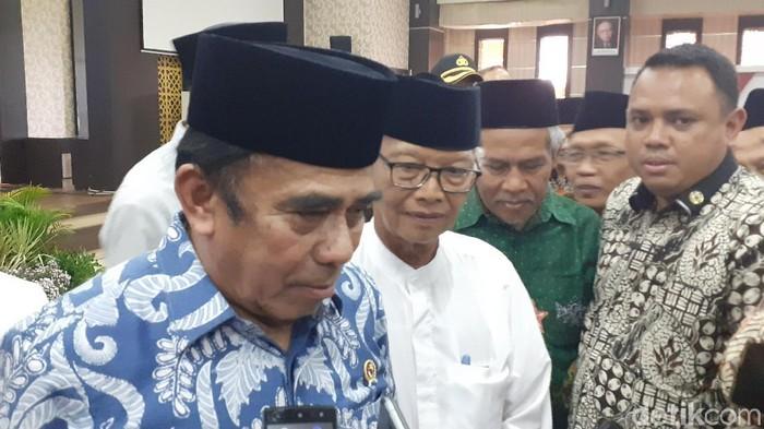 Menag Fachrul Razi (Muhammad Aminudin/detikcom)