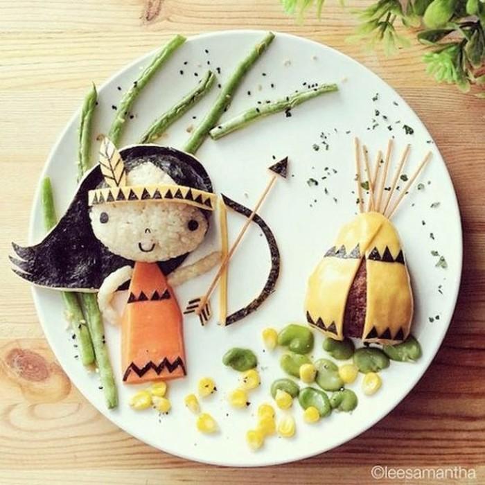 Awalnya Lee Samantha mengkreasikan makanan menjadi bentuk yang menarik agar membuat anaknya bisa menikmati makanan yang ia buat. Foto: Lee Samantha
