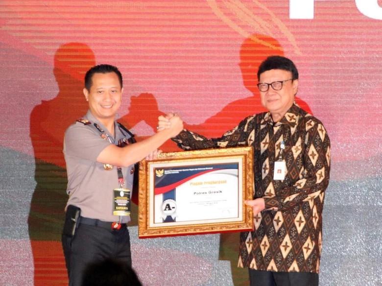 Pelayanan Publik Polres Gresik Diganjar Penghargaan oleh KemenPAN-RB