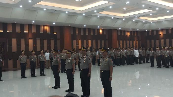 Foto: Upacara kenaikan pangkat di Polri (Farih Maulana/detikcom)