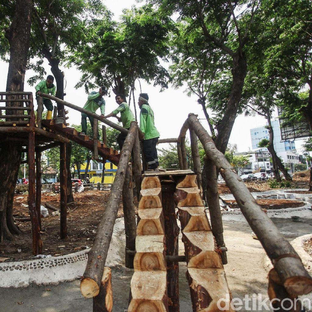 Asyik, Taman di Tomang Ini Akan Dilengkapi Rumah Pohon