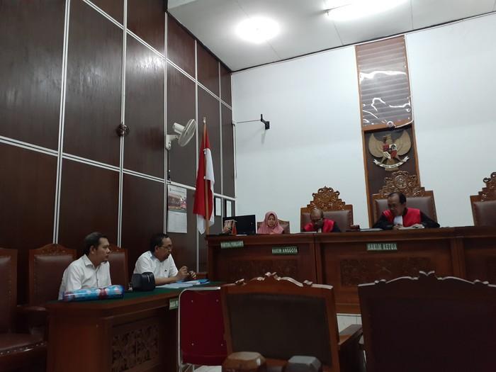 Sidang gugatan caleg Gerindra terhadap Mulan Jameela dkk. (Yulida/detikcom)