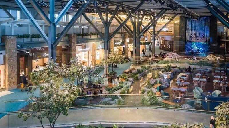 Pertama ada Bandara Internasional Vancouver di Kanada yang punya ruang outdoor dan zona hijau yang menarik. Menariknya, Bandara Vancouver juga memiliki anjing terapi yang diperbantukan untuk menenangkan penumpang berkebutuhan khusus (Vancouver Airport)