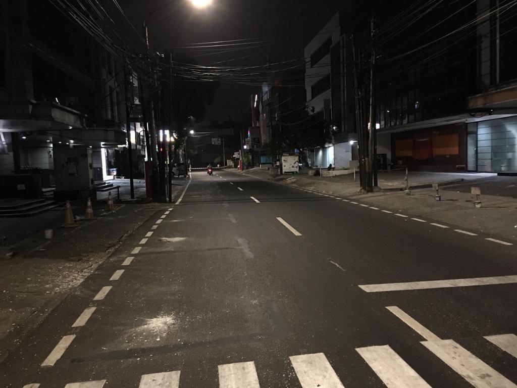 Marka lahan parkir di Jalan Juanda Jakpus dihapus (Dok. UP Perparkiran)
