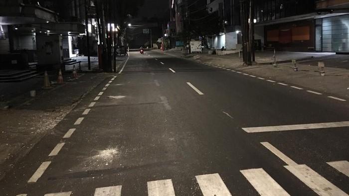 Marka lahan parkir di Jalan Juanda Jakpus dihapus. (Dok. UP Perparkiran)