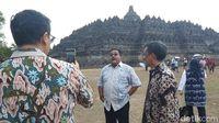 Ketika 'Si Doel Anak Sekolahan' Ngevlog di Candi Borobudur