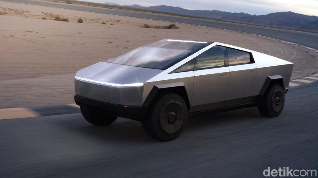 Pikap Listrik Futuristik Tesla