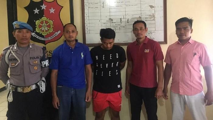 Pelaku penganiaya pacar di Sumbawa (Foto: dok. Polres KSB)