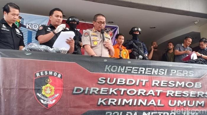 Polda Metro Jaya mengamankan 13 pelaku tawuran di Bekasi (Wildan/detikcom)