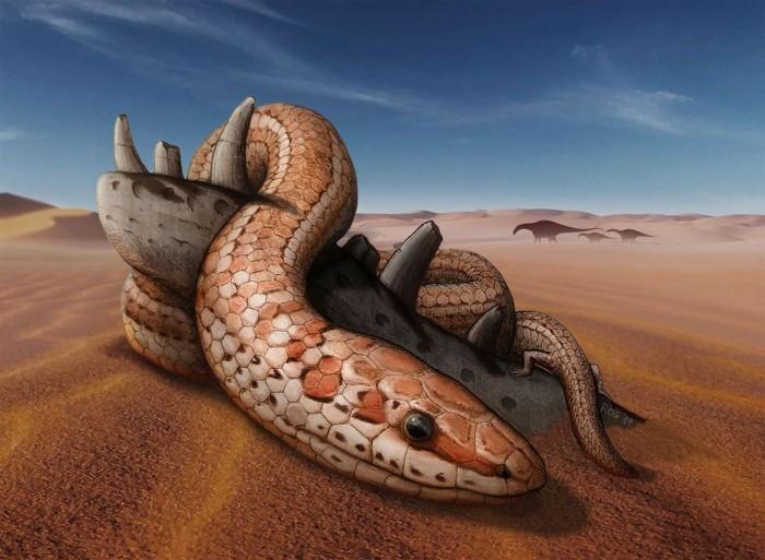 Ilustrasi ular berkaki pada masa silam. Foto: Live Science