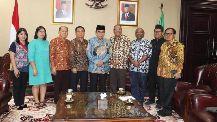 PGI temui Menteri Agama Fachrul Razi di Kantor Kemenag (Foto: Dok. Istimewa)