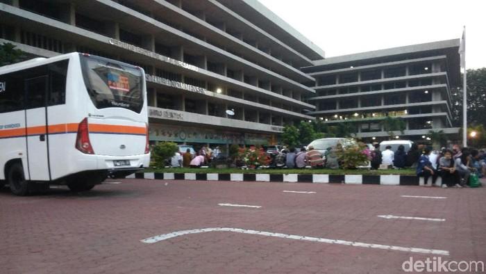Situasi terkini di Universitas HKBP Nommensen Medan (Foto: Datuk Haris Molana/detikcom)