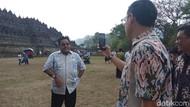 Ketika Si Doel Ngevlog di Candi Borobudur