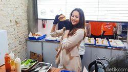 Anya Geraldine Luncurkan Burger Tahan Banting dengan Patty Tebal
