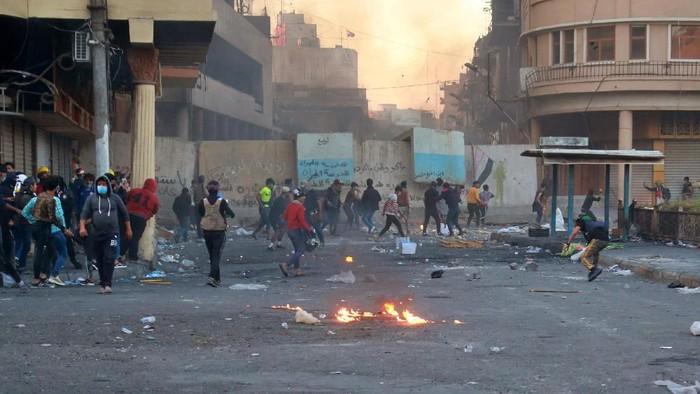 Demo ricuh di Irak Foto: AP Photo