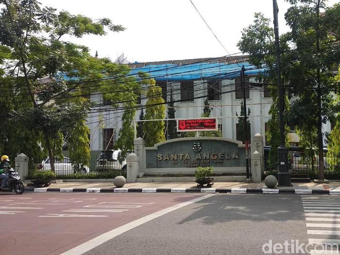 Gedung Santa Angela di Jalan Merdeka, Kota Bandung (Mochamad Solehudin/detikcom)
