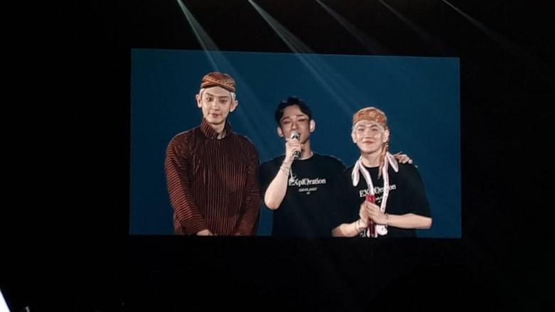 Konser EXO di Jakarta. Foto: (delia/detikcom)