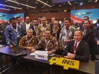 Delegasi Indonesia pada rapat pleno penutupan Sidang International Telecommunication Union - World Radiocommunication Conference (ITU-WRC) 2019 di Sharm El Sheikh, Mesir, Jumat (22/11).