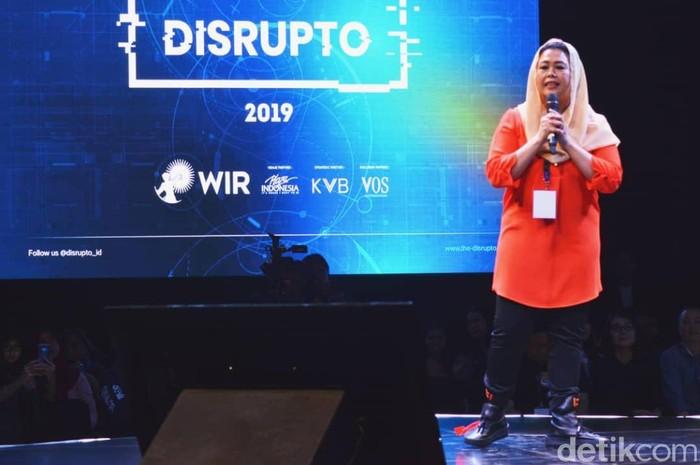 Yenny Wahid di Disrupto. Foto: Agus Tri Haryanto/detikINET