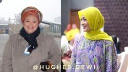 Dewi Hughes berhasil tampil lebih sehat dan langsing dengan hipnoterapi. Berat badan Dewi yang sebelumnya 150 kilogram kini hanya 59 kilogram.