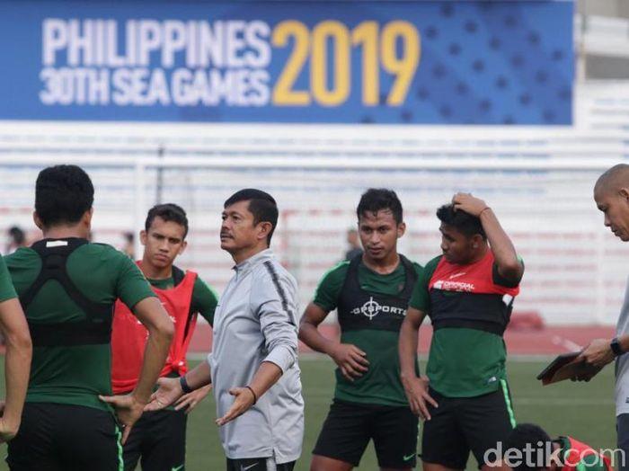 Timnas Indonesia tak mendapat air minum saat berlatih menatap SEA Games 2019. ( Foto: dok. Humas PSSI)