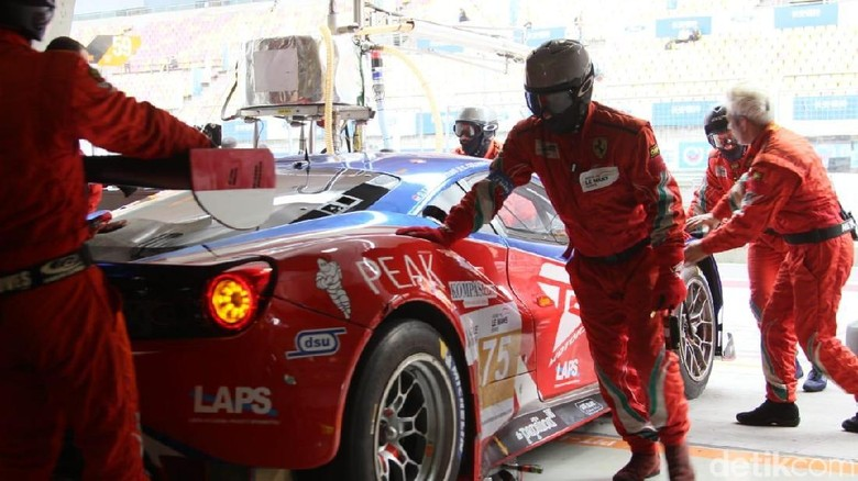 Mobil Ferrari 488 GT3 yang dipakai tim T2 Motorsports di Asian Le Mans Series Foto: Ridwan Arifin