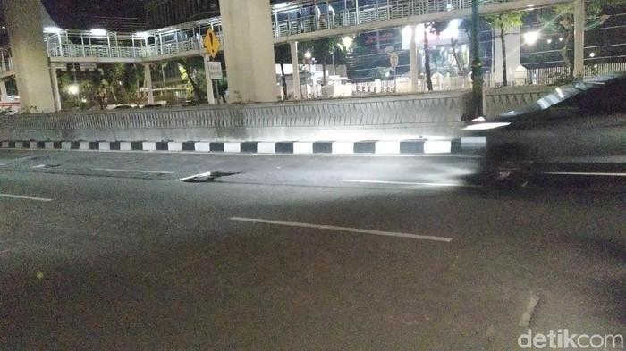 Lubang di Jalan Rasuna Said (Foto: Wilda/detikcom)