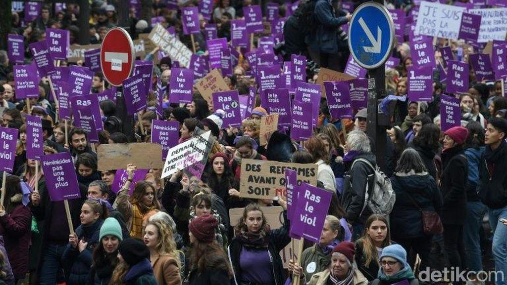 Ratusan Perempuan Dibunuh dalam Setahun, Ribuan Orang Demo di Paris