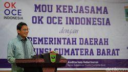 Sandiaga Uno Kenalkan OK OCE ke Warga Sumatera Barat