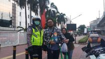 Polisi Tegur Pengguna Skuter Listrik di Luar Kawasan Monas-GBK