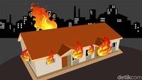 Mes Tenaga Kerja Asing di Gunungputri Bogor Terbakar, Tak Ada Korban Jiwa