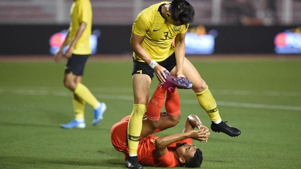 Malaysia vs Myanmar berakhir imbang.