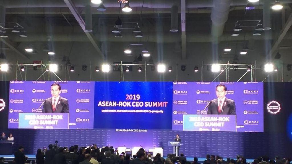 Jokowi Rayu Pengusaha ASEAN dan Korsel Investasi di Indonesia