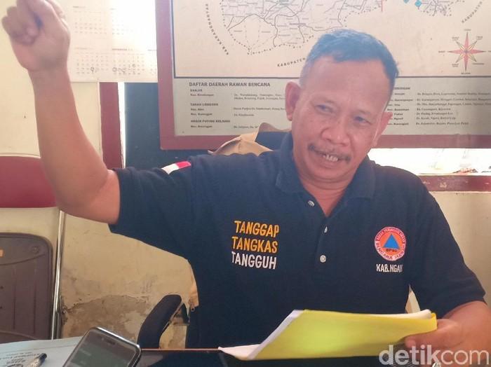Kasi Kedaruratan BPBD Ngawi Alfian Wihaji Yudono (Sugeng Harianto/detikcom)
