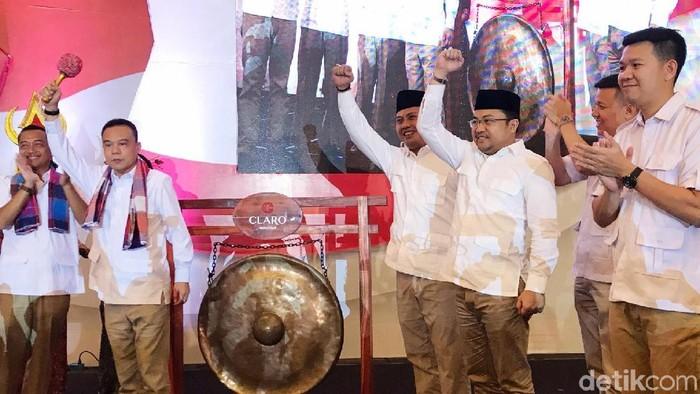 Foto: Ketua Gerindra Sulsel dan Sulut Resmi Dilantik di Makassar (Amang-detikcom)
