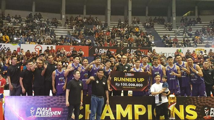 Amartha Hangtuah runner-up Piala Presiden Basket 2019 (dok.Amartha HangTuah)