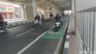 Selama Seminggu, 653 Kendaraan Ditilang Langgar Jalur Sepeda