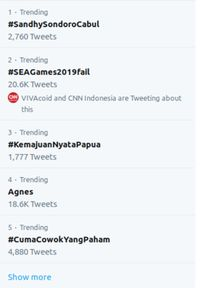 Trending toping #SEAGames2019Fail