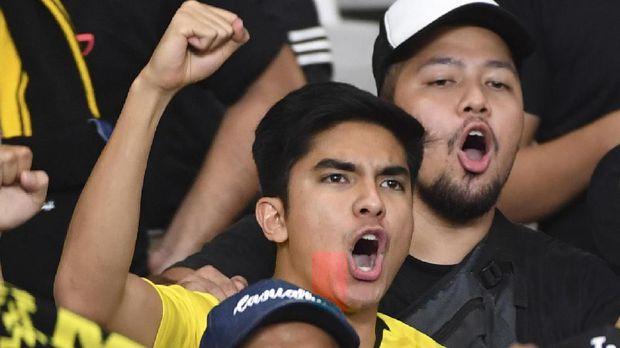 Syed Saddiq saat datang ke Stadion Utama Gelora Bung Karno menyaksikan laga Indonesia vs Malaysia. (