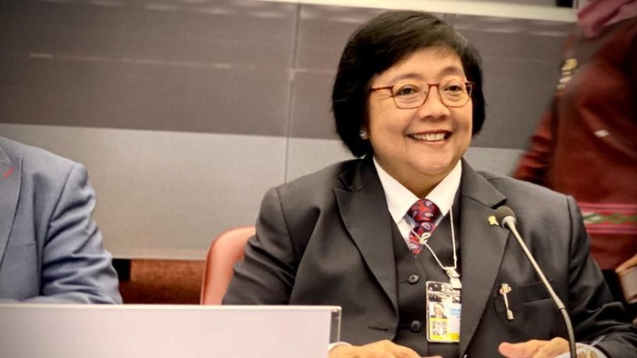 Menteri LHK Siti Nurbaya saat menghadiri COP-3 Konvensi Minamata di Jenewa, Swiss.