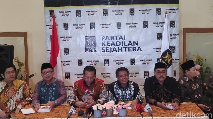 Foto: PKS menerima pimpinan MPR (Matius Alfons/detikcom)