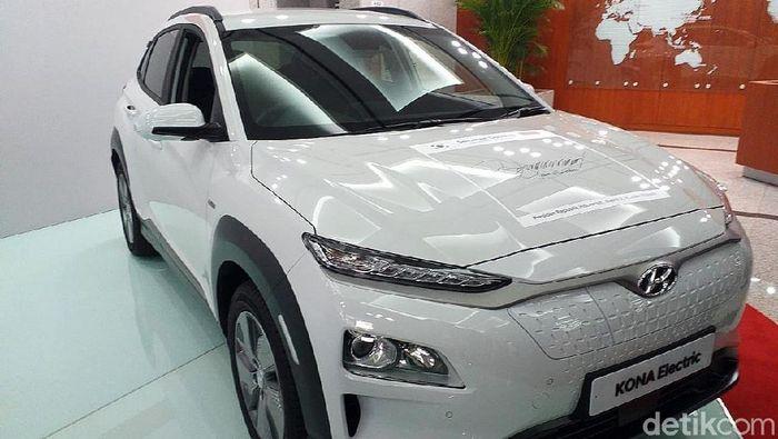 Mobil listrik Hyundai/Foto: Sylke Febrina Laucereno/detikFinance