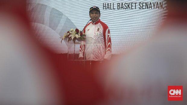 Menpora RI Zainudin Amali mengaku kecewa dance sport hanya ekhsibisi di SEA Games 2019. (