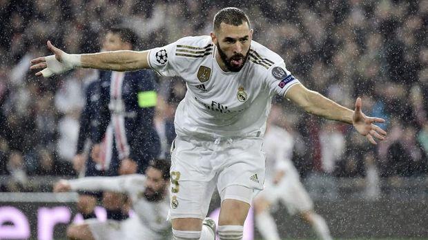 Karim Benzema jadi satu-satunya penyerang Real Madrid yang tampil konsisten.